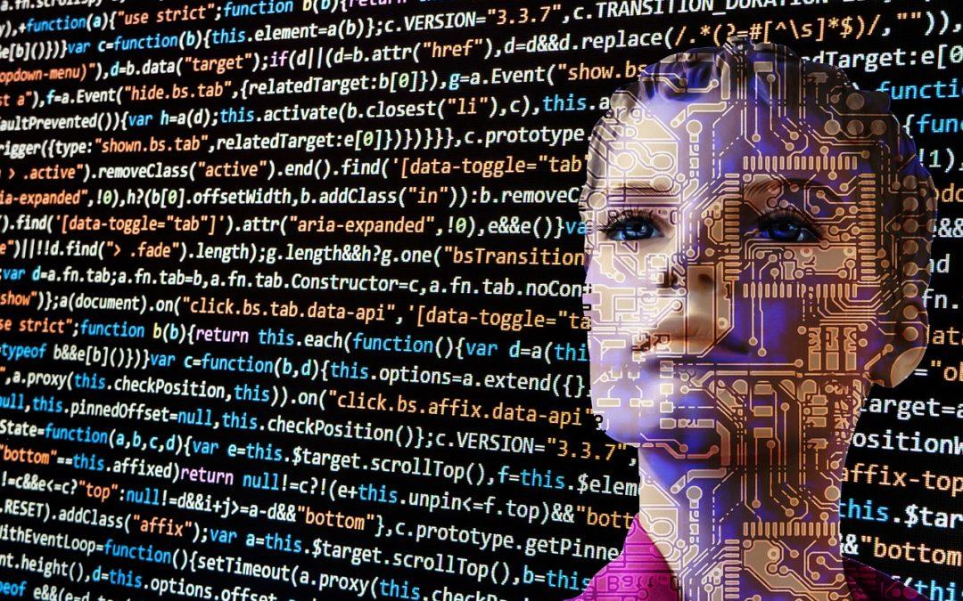 femme dans un code informatique